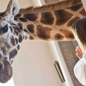 Giraffe with child - Giraffe Manor - Luxury Kenyan Honeymoon Packages