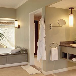 Outrigger Mauritius Beach Resort Luxury Mauritius Honeymoon Packages Ocean View Bathroom