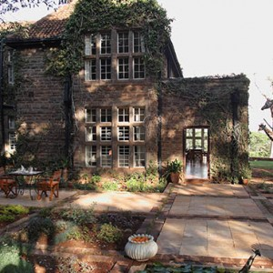 Patio - Giraffe Manor - Luxury Kenyan Honeymoon Packages