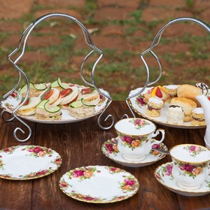afternoon tea - Giraffe Manor - Luxury Kenyan Honeymoon Packages