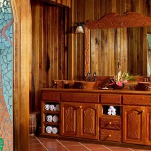 bathroom - Ladera St Lucia - Luxury St lucia Holidays
