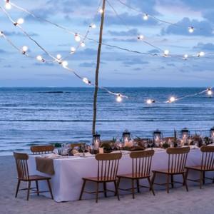 beach dining - Shangri La Le touessrock - Luxury Mauritius holidays