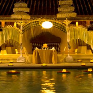 Luxury Bali Holiday Packages Sudamala Suites & Villas Private Romantic Dining At Night