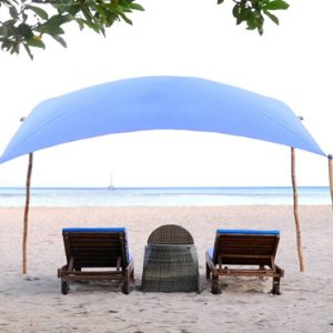 Luxury Bali Holiday Packages Sudamala Suites & Villas Sun Loungers On Beach
