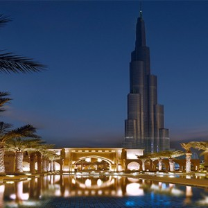 The Palace Downtown Dubai - Luxury Dubai holiday packages - Exterior with burj
