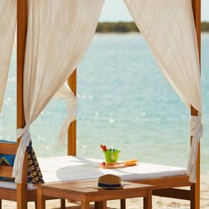 beach cabana - yas viceroy abu dhabi - luxury abu dhabi holidays