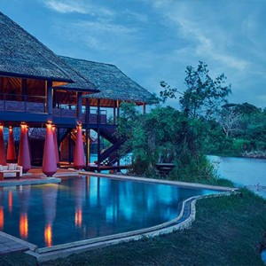 Jetwing Vil Uyana - Luxury Sri Lanka Holiday Packages - Restaurant at night