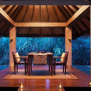 Jetwing Vil Uyana - Luxury Sri Lanka Holiday Packages - private dining inside