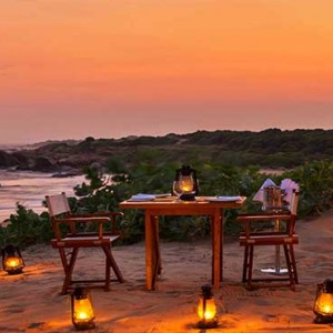 Uga Chena Huts Yala - Luxury Sri Lanka Holiday packages - Private dining