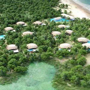 Uga Chena Huts Yala - Luxury Sri Lanka Holiday packages - aerial view