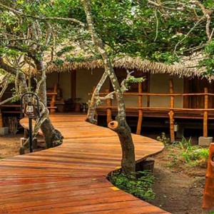 Uga Chena Huts Yala - Luxury Sri Lanka Holiday packages - cabin exterior walkway