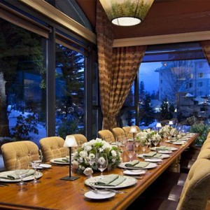 dining 4 - fairmont chateau whistler - luxury canada holiday packages