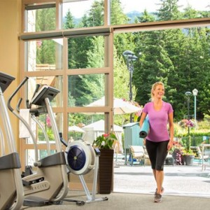 gym - fairmont chateau whistler - luxury canada holiday packages