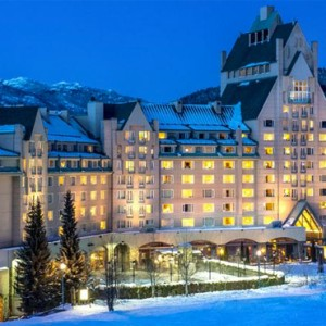 night - fairmont chateau whistler - luxury canada holiday packages