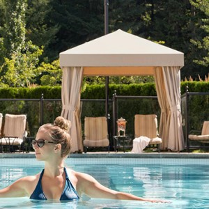 outdoor pool 2 - fairmont chateau whistler - luxury canada holiday packages