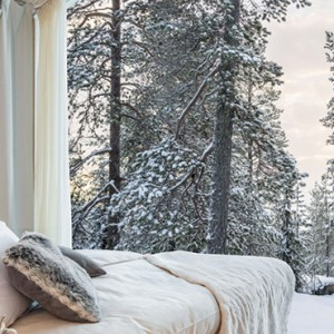 room 2 - arctic treehouse hotel - luxury finland holiday pckages