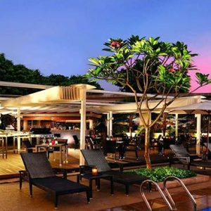 Park Hotel Clarke Quay Luxury Singapore Holiday Packages Cocobolo Poolside Bar Exterior At Night