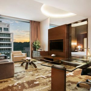 Park Hotel Clarke Quay Luxury Singapore Holiday Packages Park Suite Living Room