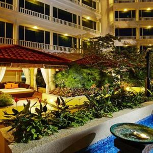 Park Hotel Clarke Quay Luxury Singapore Holiday Packages Exterior Cabana By Pool At Night