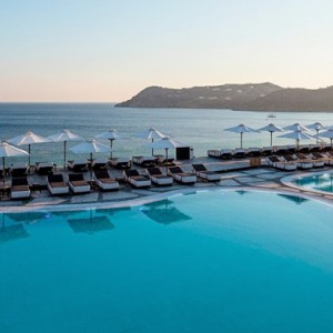 pool – one bedroom - myconian avaton mykonos - luxury greece holiday packages