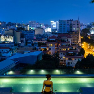 rooftop pool - silverland yeh hotel and spa - luxury vietnam holiday packages