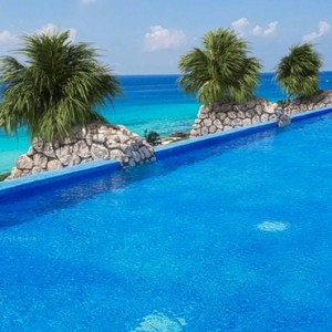 rooftop pool - xcaret hotel mexico - luxury mexico holiday packages