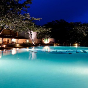 Cinnamon Lodge Habarana - Luxury Sri Lanka Holiday Package - pool at night