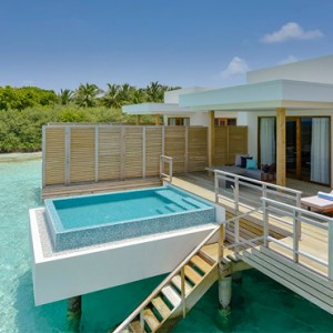 luxury maldives holiday packages - dhigali maldives - lagoon villa with pool