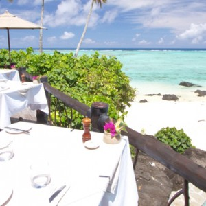 Luxury Cook Islands Holiday Packages Pacific Resort Aitutaki Dining