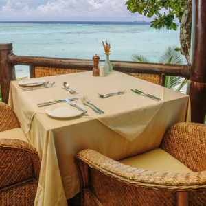 Luxury Cook Islands Holiday Packages Pacific Resort Aitutaki Dining 8