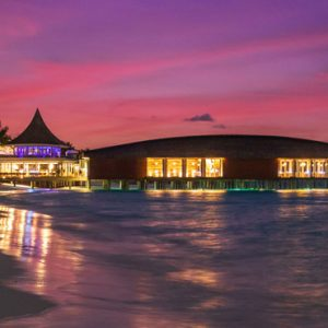 Luxury Maldives Holiday Packages Kuramathi Island Resort Maldives Beach At Night