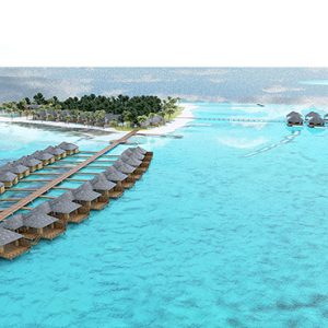 Luxury Maldives Holidays Maafushivaru Aerial View