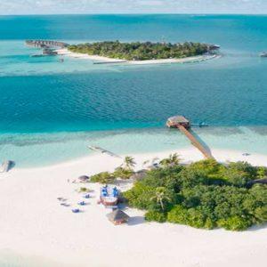 Luxury Maldives Holidays Maafushivaru Aerial View1