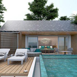 Luxury Maldives Holidays Maafushivaru Beach Pool Villa