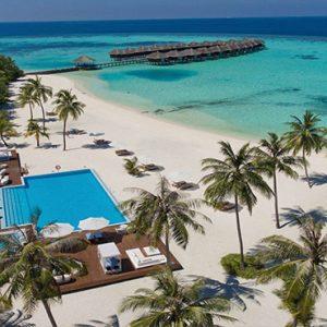 Luxury Maldives Holidays Maafushivaru Hotel Aerial View