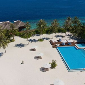 Luxury Maldives Holidays Maafushivaru Hotel Aerial View1