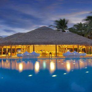 Luxury Maldives Holidays Maafushivaru Pool At Night