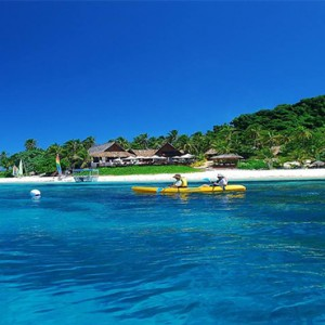 luxury fiji holiday packages - Matamanoa Island Resort - kayaking