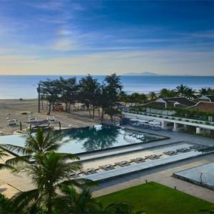 luxury vietnam holiday packages - pullman danang vietnam - aerial