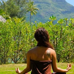 luxury bora bora holiday packages - intercontinental bora bora resort and thalasso spa - yoga