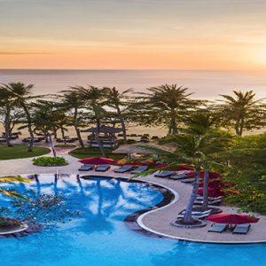 Bali holiday Packages The Laguna Bali Pool At Sunset