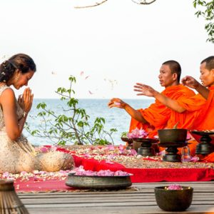 Luxury Cambodia Holiday Packages Song Saa Private Island Resort Cambodia Monk Blessing