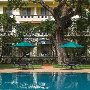 Luxury Cambodia Holiday Packages Raffles Hotel Le Royal Poolside Terrace