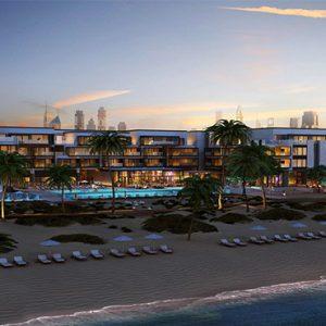 Nikki Beach Resort And Spa Luxury Dubai Honeymoon Packages Aerial View
