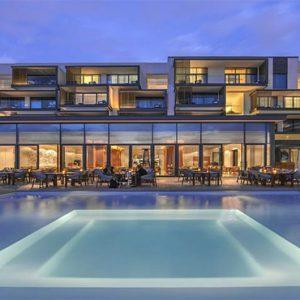 Nikki Beach Resort And Spa Luxury Dubai Honeymoon Packages Pool At Night1
