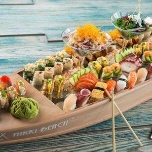 Nikki Beach Resort And Spa Luxury Dubai Honeymoon Packages Restaurant Food