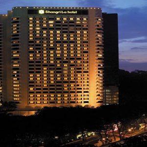 luxury Malaysia holiday Packages Shangri La Kuala Lumpur Exterior At Night