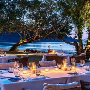 Luxury Malaysia Holiday Packages The Datai Langkawi The Beach Club (Dinner Setting)