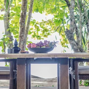 Luxury Malaysia Holiday Packages The Datai Langkawi Two Bedroom Beach Villa Outdoor Dining Area