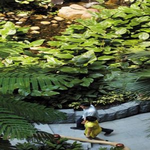 Shangri La Singapore Luxury Singapore Honeymoon Packages Garden Wing Atrium Waterfall